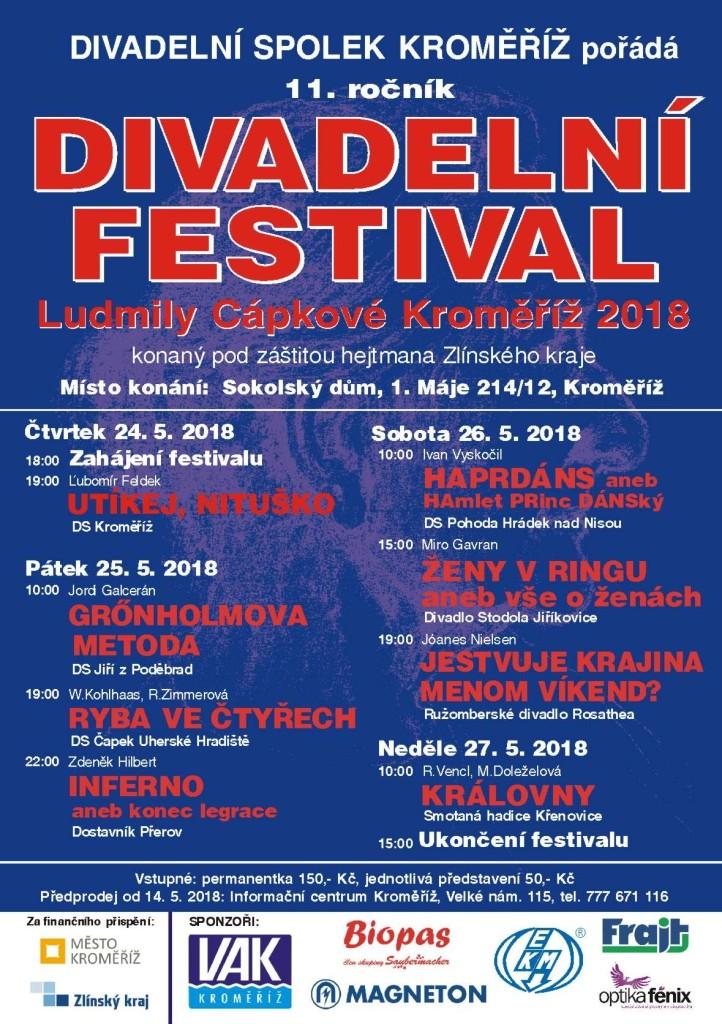 Plakat festival divadlo 2018