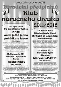 plakat predplatne 11_ 12 klub nardivak