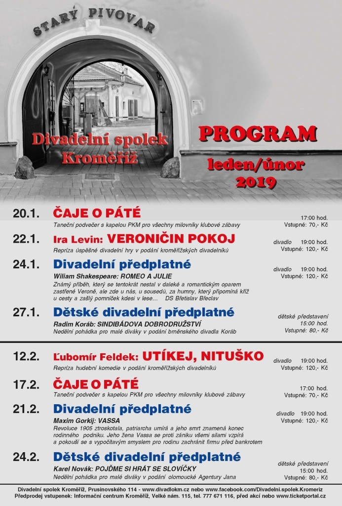 Divadlo program leden_unor 2019