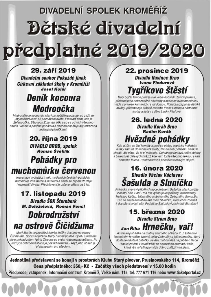 plakat predplatne detske 2019-20